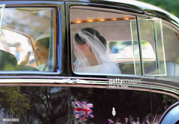 Meghan Markle with her mother Doria Ragland arrive at Windsor Castle ahead of her wedding to Prince Harry on May 19 2018 in Windsor England Prince...