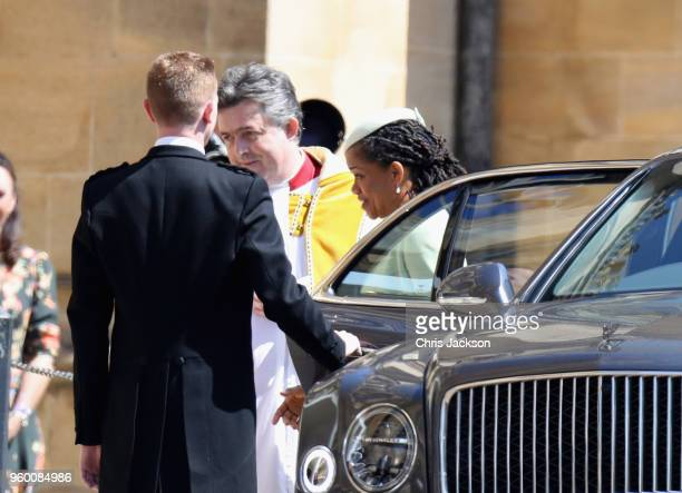 Meghan Markle's mother Doria Ragland arrives at the wedding of Prince Harry to Ms Meghan Markle at St George's Chapel Windsor Castle on May 19 2018...