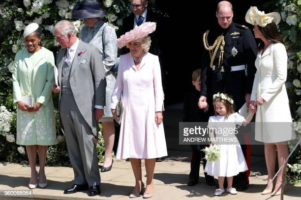 Meghan Markle's mother Doria Ragland Britain's Prince Charles Prince of Wales Britain's Camilla Duchess of Cornwall Britain's Prince William Duke of...