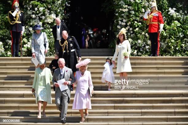 Meghan Markle's mother Doria Ragland Britain's Prince Charles Prince of Wales Britain's Prince William Duke of Cambridge Britain's Camilla Duchess of...