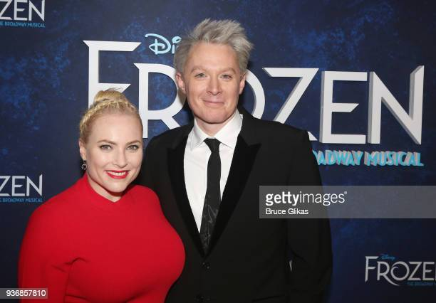 Meghan McCain and Clay Aiken pose at the opening night after party for Disney's new hit musical Frozen on Broadway at Terminal 5 on March 22 2018 in...