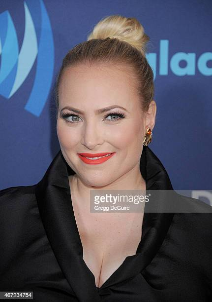 Meghan McCain arrives at the 26th Annual GLAAD Media Awards at The Beverly Hilton Hotel on March 21 2015 in Beverly Hills California