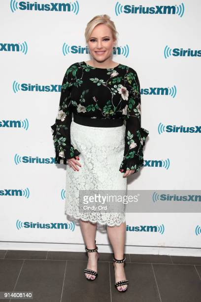 Meghan McCain joins host Julie Mason during a SiriusXM event on February 5 2018 in New York City