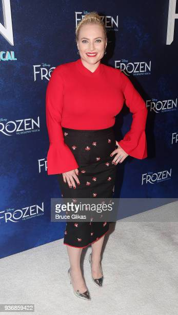 Meghan McCain poses at the opening night after party for Disney's new hit musical Frozen on Broadway at Terminal 5 on March 22 2018 in New York City