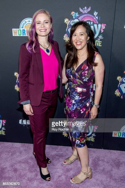 Meghan McCarthy and Rita Hsiao attend 'My Little Pony The Movie' New York screening at AMC Lincoln Square Theater on September 24 2017 in New York...