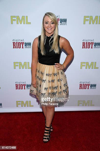 Meghan McCarthy attends the premiere of Digital Riot Media's 'FML' at iPic Theaters on October 11 2016 in Los Angeles California