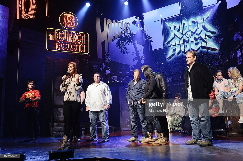 Meghan McDermott (C) attends the 'Rock Of Ages' on Broadway Military Tribute Night at Helen Hayes Theatre on October 2, 2012 in New York City.