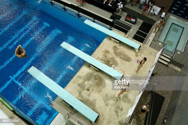 Meghan Obrien of Longhorn Aquatics competes during the Senior Women's 3m Springboard Final during the 2017 USA Diving Summer National Championships...