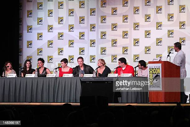 Meghan Ory Lana Parrilla Ginnifer Goodwin Josh Dallas and Jennifer Morrison attend the Once Upon A Time Panel ComicCon International 2012 at San...