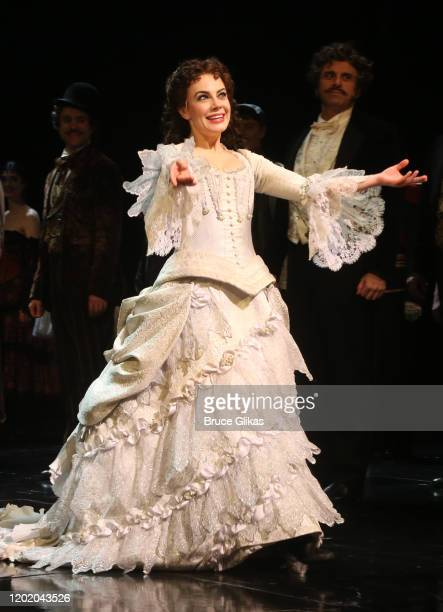 Meghan Picerno as Christine Daae during the 32nd Anniversary Performance curtain call for The Phantom of The Opera on Broadway at The Majestic...