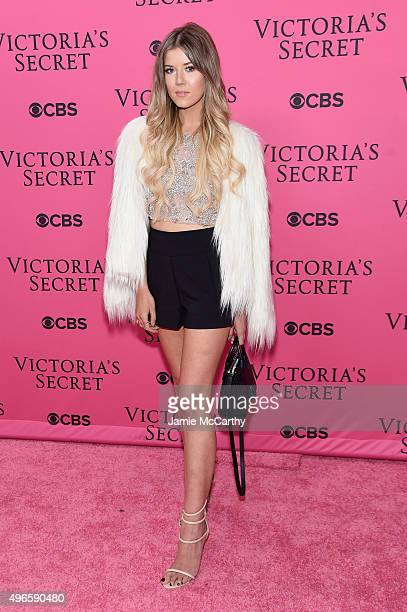 Meghan Rienks attends the 2015 Victoria's Secret Fashion Show at Lexington Avenue Armory on November 10 2015 in New York City