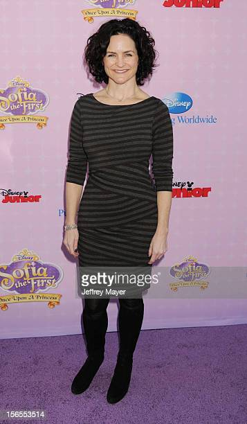 Meghan Strange arrives at the Disney Channel's Premiere Party For 'Sofia The First Once Upon A Princess' at the Walt Disney Studios on November 10...