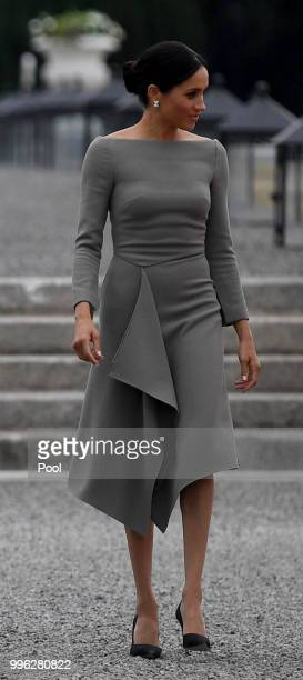 Meghan The Duchess of Sussex seen during her visit to Ireland at Aras an Uachtarain on July 11 2018 in Dublin Ireland
