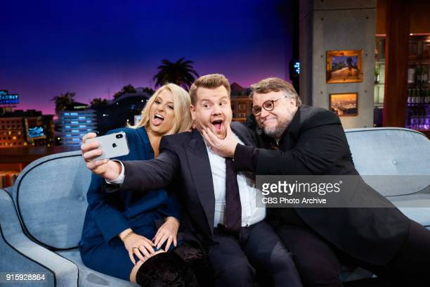 Meghan Trainor and Guillermo Del Toro chat with James Corden during 'The Late Late Show with James Corden' Wednesday February 7 2018 On The CBS...