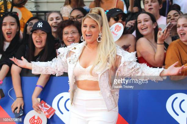 Meghan Trainor arrives at the 2018 iHeartRadio MuchMusic Video Awards at MuchMusic HQ on August 26 2018 in Toronto Canada
