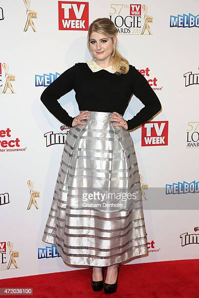 Meghan Trainor arrives at the 57th Annual Logie Awards at Crown Palladium on May 3 2015 in Melbourne Australia