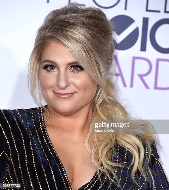 Meghan Trainor arrives at the People's Choice Awards 2016 at Microsoft Theater on January 6 2016 in Los Angeles California