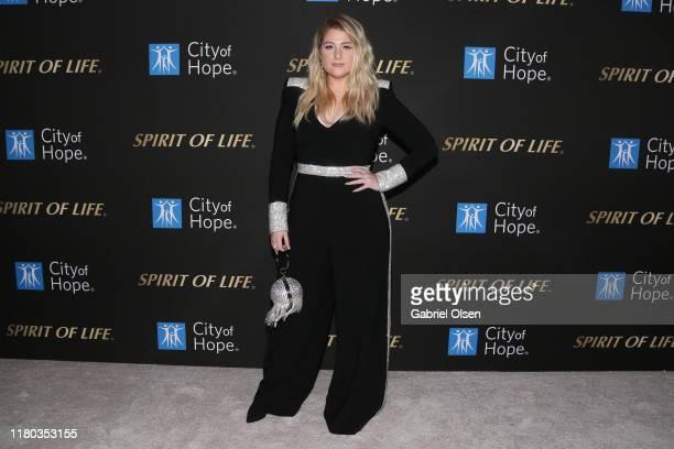 Meghan Trainor arrives for City Of Hope's Spirit Of Life 2019 Gala at The Barker Hanger on October 10 2019 in Santa Monica California
