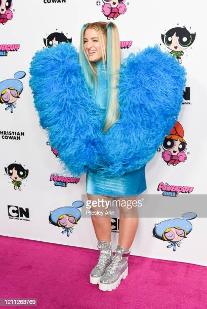 Meghan Trainor attends Christian Cowan x Powerpuff Girls Runway Show on March 08 2020 in Hollywood California