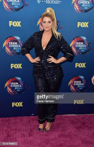 Meghan Trainor attends FOX's Teen Choice Awards at The Forum on August 12 2018 in Inglewood California