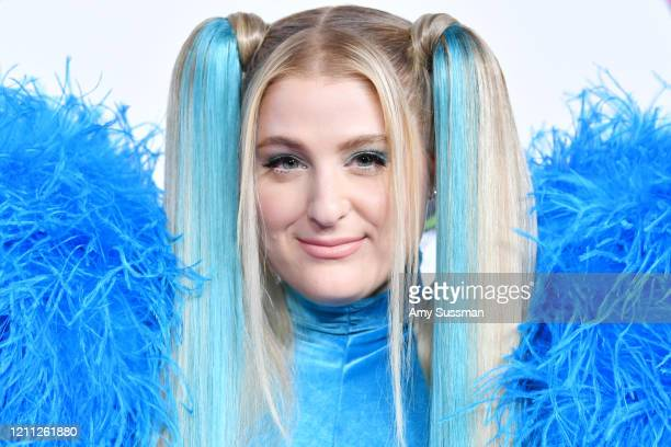 Meghan Trainor attends the 2020 Christian Cowan x Powerpuff Girls Runway Show on March 08 2020 in Hollywood California