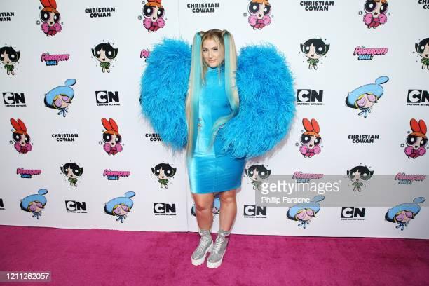 Meghan Trainor attends the 2020 Christian Cowan x Powerpuff Girls Runway Show on March 08, 2020 in Hollywood, California.