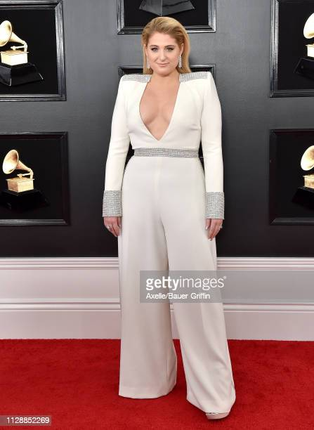 Meghan Trainor attends the 61st Annual GRAMMY Awards at Staples Center on February 10 2019 in Los Angeles California