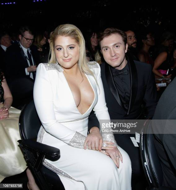 Meghan Trainor attends THE 61ST ANNUAL GRAMMY AWARDS broadcast live from the STAPLES Center in Los Angeles Sunday Feb 10 on the CBS Television Network