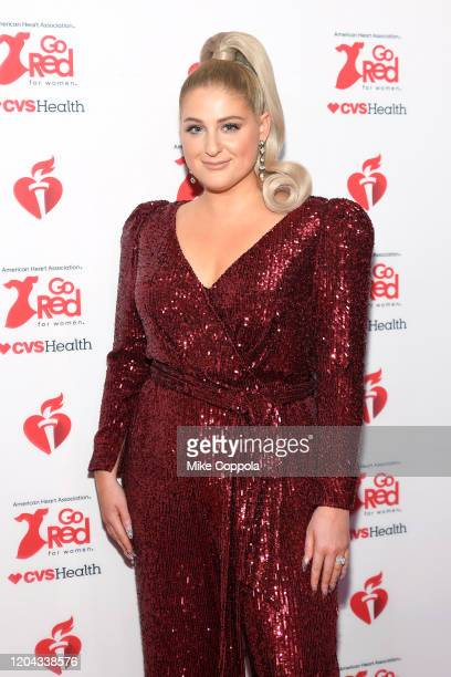 Meghan Trainor attends The American Heart Association's Go Red for Women Red Dress Collection 2020 at Hammerstein Ballroom on February 05 2020 in New...