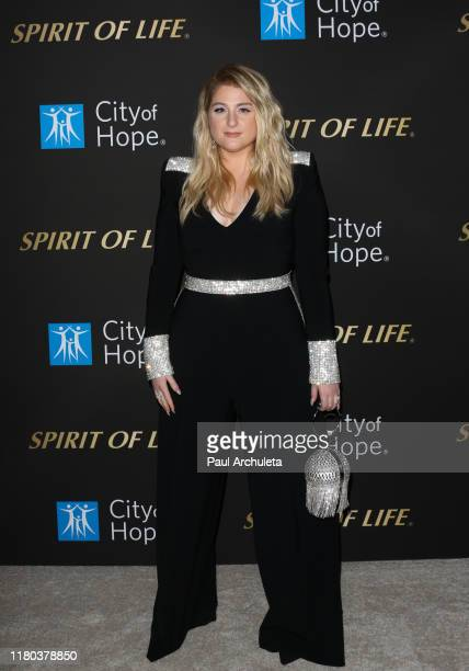 Meghan Trainor attends the City Of Hope's Spirit Of Life 2019 Gala at The Barker Hanger on October 10 2019 in Santa Monica California