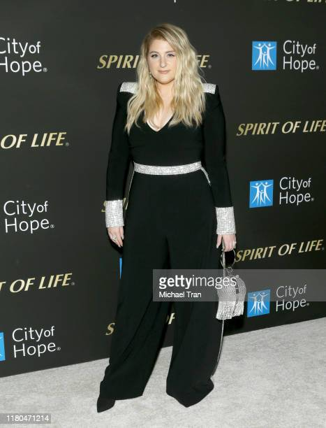 Meghan Trainor attends the City Of Hope's Spirit of Life 2019 Gala held at The Barker Hanger on October 10 2019 in Santa Monica California