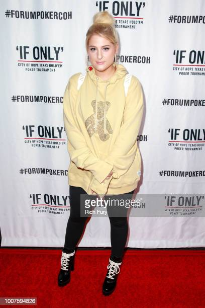 Meghan Trainor attends the first annual If Only Texas hold'em charity poker tournament benefiting City of Hope at The Forum on July 29 2018 in...