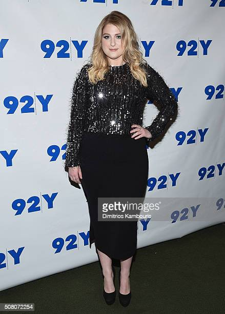 Meghan Trainor attends the L A Reid conversation with Gayle King and special guest Meghan Trainor at 92Y on February 2 2016 in New York City
