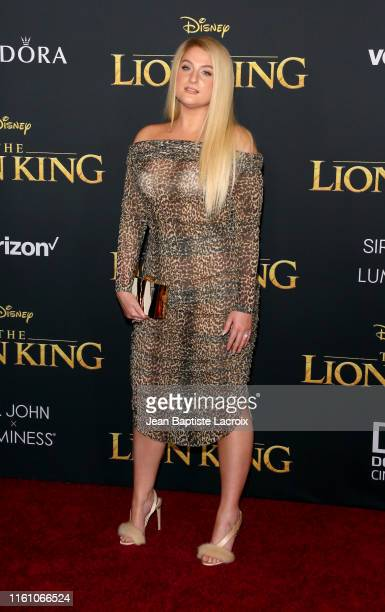 Meghan Trainor attends the premiere of Disney's The Lion King at Dolby Theatre on July 09 2019 in Hollywood California