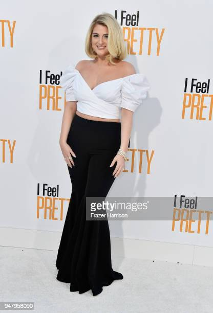 Meghan Trainor attends the premiere of STX Films' I Feel Pretty at Westwood Village Theatre on April 17 2018 in Westwood California
