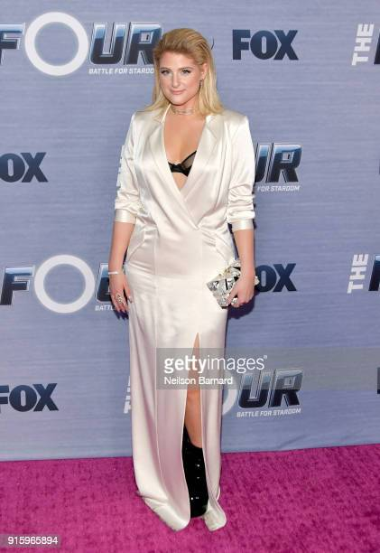 Meghan Trainor attends the season finale viewing party for FOX's The Four at Delilah on February 8 2018 in West Hollywood California