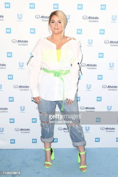 Meghan Trainor attends WE Day California at The Forum on April 25 2019 in Inglewood California