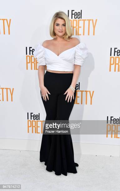 Meghan Trainor atttends the Premiere Of STX Films' 'I Feel Pretty' at Westwood Village Theatre on April 17 2018 in Westwood California