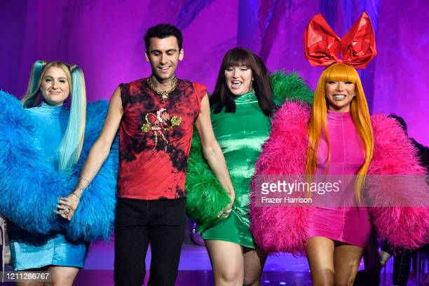 Meghan Trainor Christian Cowan Nikita Dragun and model walk the runway at the 2020 Christian Cowan x The Powerpuff Girls on March 08 2020 in Los...