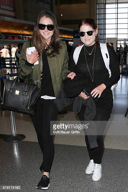 Meghan Trainor is seen at LAX on April 04 2016 in Los Angeles California