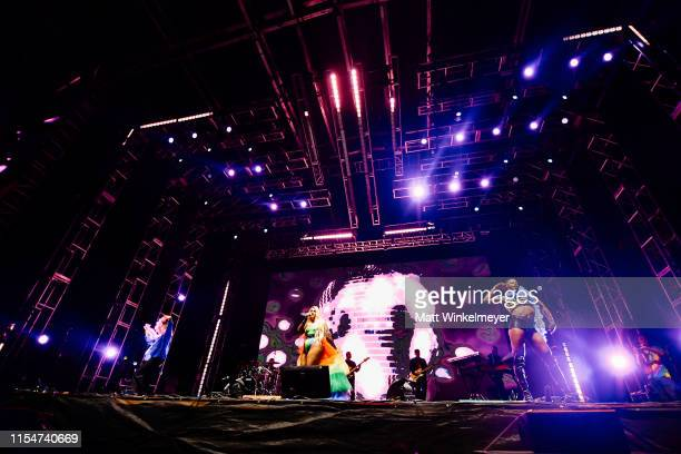 Meghan Trainor performs at the LA Pride 2019 on June 08, 2019 in West Hollywood, California.