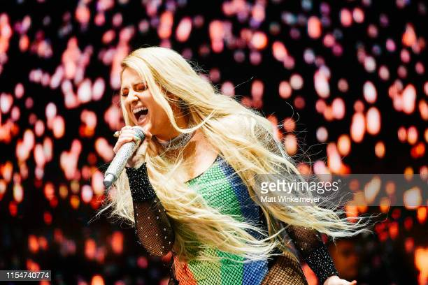 Meghan Trainor performs at the LA Pride 2019 on June 08 2019 in West Hollywood California