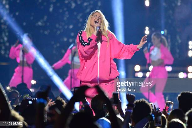 Meghan Trainor performs at WE Day at The Forum on April 25 2019 in Inglewood California