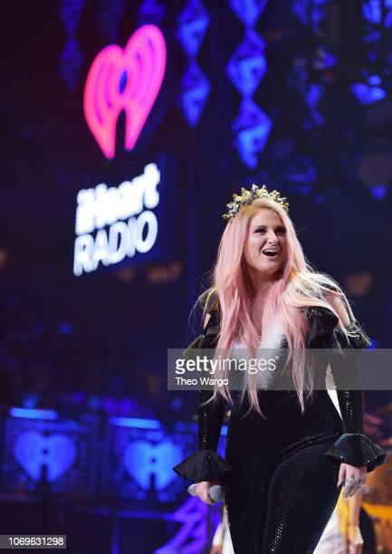 Meghan Trainor performs at Z100's Jingle Ball 2018 at Madison Square Garden on December 7 2018 in New York City