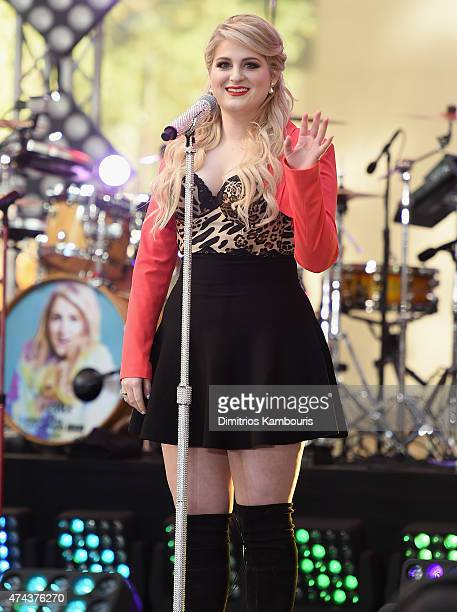 Meghan Trainor performs on NBC's 'Today' at the NBC's TODAY Show on May 22 2015 in New York New York