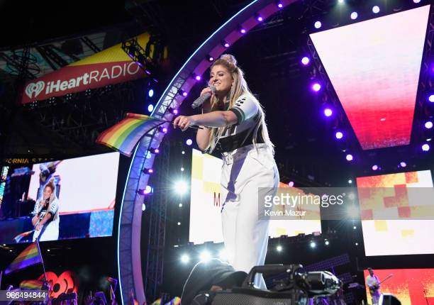 Meghan Trainor performs onstage during the 2018 iHeartRadio Wango Tango by ATT at Banc of California Stadium on June 2 2018 in Los Angeles California