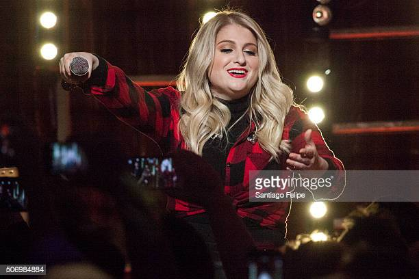 Meghan Trainor performs onstage during the Logo New Now Next Honors From Aspen Gay Ski Week on January 23 2016 in Aspen Colorado