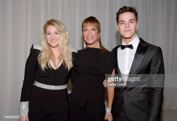 Meghan Trainor Spirit of Life honoree Sylvia Rhone Chairman CEO of Epic Records and AJ Mitchell attend City Of Hope Spirit Of Life Gala 2019 on...