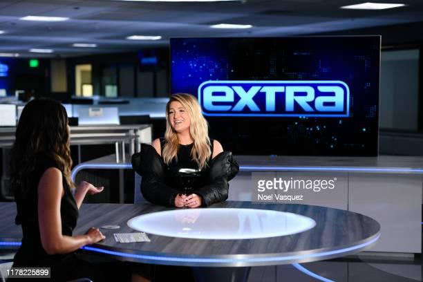 Meghan Trainor visits Extra at Burbank Studios on September 30 2019 in Burbank California