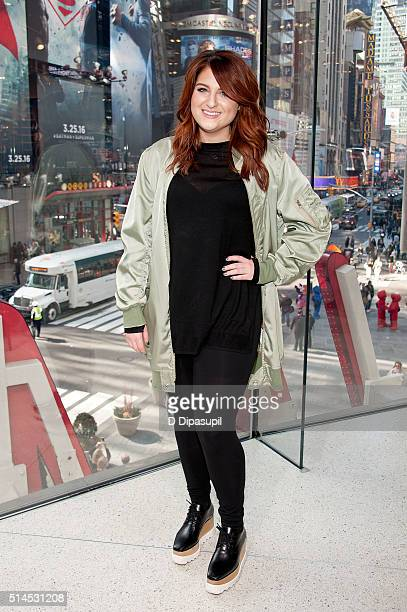 Meghan Trainor visits 'Extra' at their New York studios at HM in Times Square on March 9 2016 in New York City